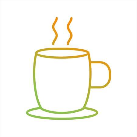 Beautiful Hot Tea Line Vector Icon