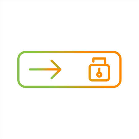 Beautiful Slide Unlocked Line Vector Icon  イラスト・ベクター素材