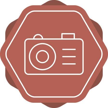 Beautiful Camera Line Vector Icon