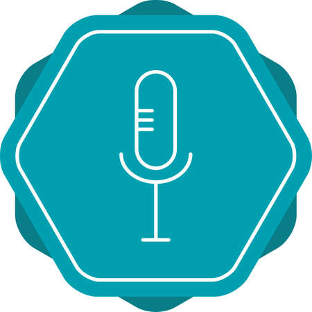 Beautiful Mic Line Vector Icon