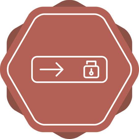 Beautiful Slide Unlocked Line Vector Icon
