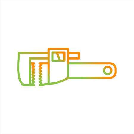 Beautiful Wrench Line Vector Icon