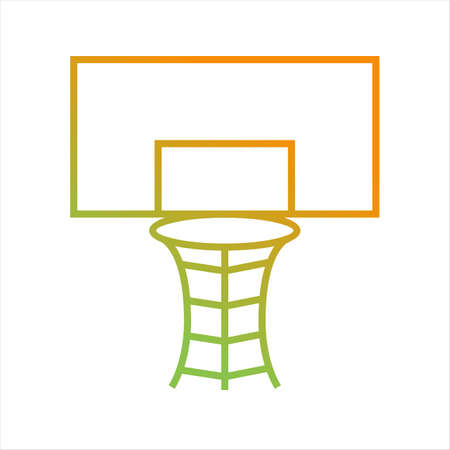 Beautiful Volleyball Hoop Vector Icon Banque d'images - 136451369