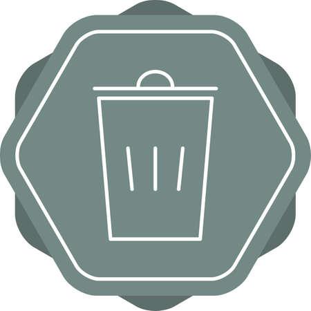 Beautiful Dustbin Line Vector Icon