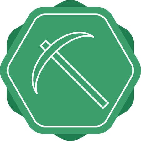 Beautiful Scythe Line Vector Icon Иллюстрация