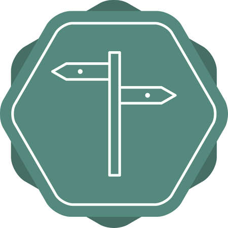 Beautiful Directions Line Vector Icon