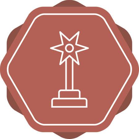 Beautiful Award Line Vector Icon