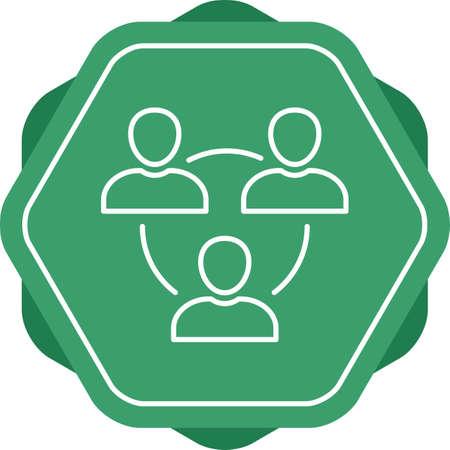 Beautiful Meeting Line Vector Icon