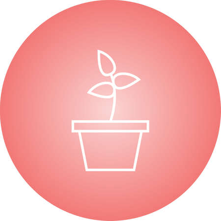 Beautiful Planting Line Vector Icon