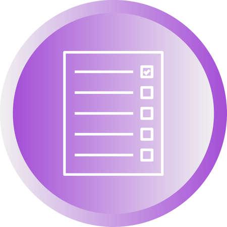 Beautiful Quiz Line Vector Icon