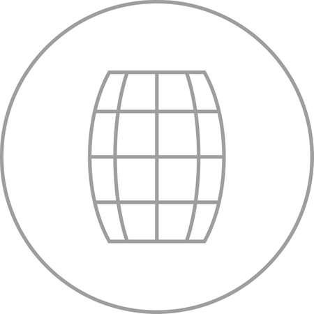 Beautiful Barrel Line Vector Icon Stockfoto - 137423758