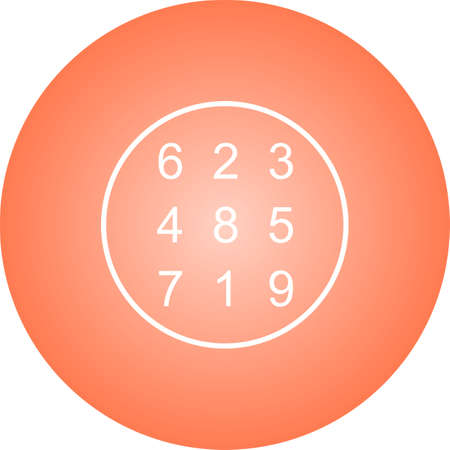 Beautiful Number Theory Line Vector Icon
