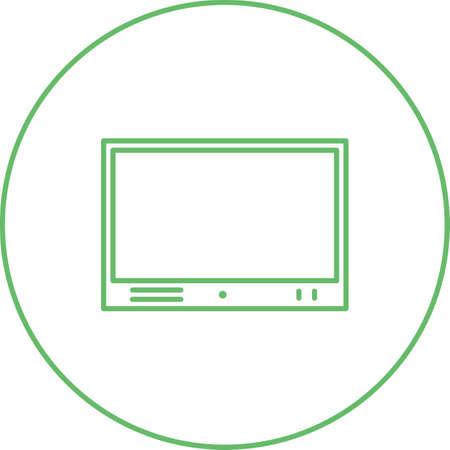 Hermoso Televison Set Line Vector Icono