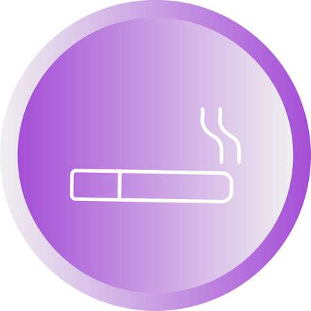 Beautiful Cigarette Line Vector Icon