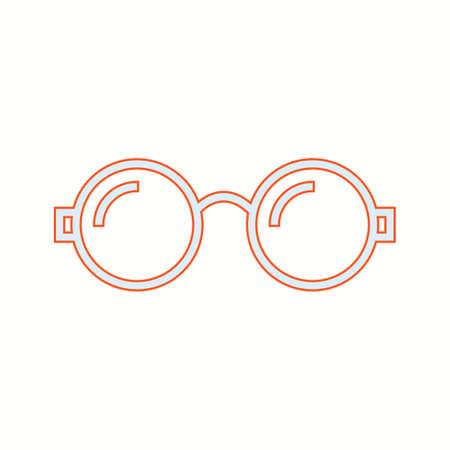 Beautiful Glasses Line Vector Icon