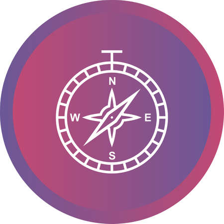 Beautiful Compass Line Vector Icon