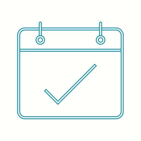 Beautiful Mark Date Line Vector Icon