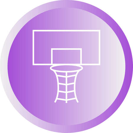 Beautiful Volleyball Hoop Vector Icon Banque d'images - 137424736