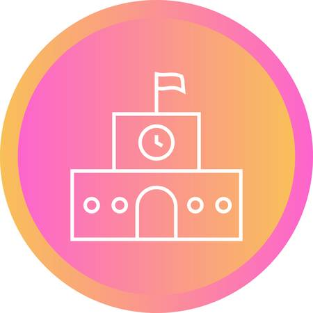 Beautiful School Line Vector Icon 向量圖像