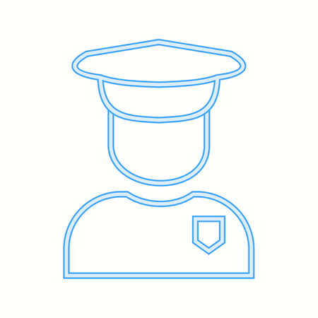 Beautiful Security Guard Line Vector Icon