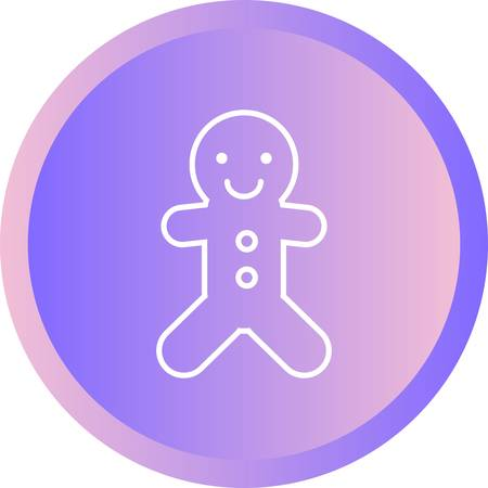Beautiful Ginger Bread Line Vector Icon 일러스트