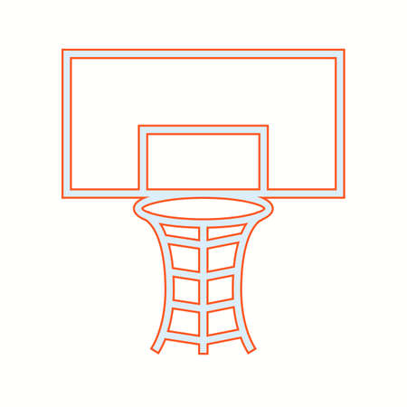 Beautiful Volleyball Hoop Vector Icon Banque d'images - 137425804