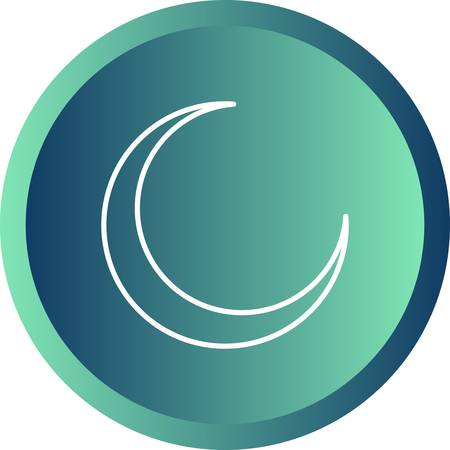 Beautiful Moon Line Vector Icon 版權商用圖片 - 137425768