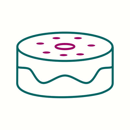 Beautiful Cake Line Vector Icon