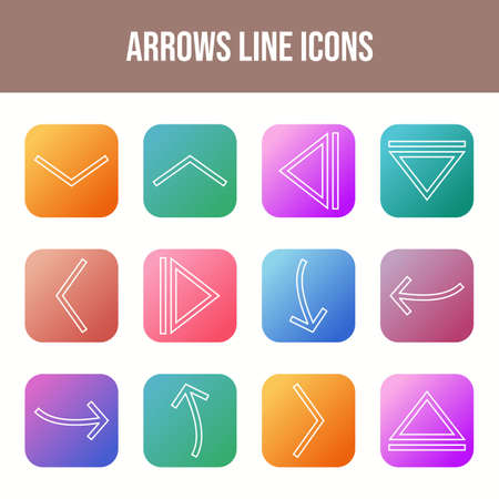 12 Vector Arrows Icons in One Set