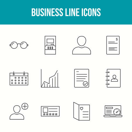 Beautiful Business 12 Vector Icons