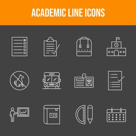 Beautiful Academic 12 Vector Icons