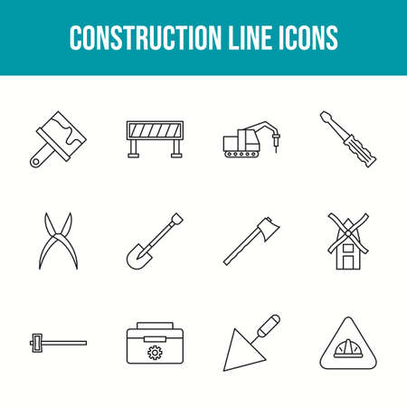 Beautiful Construction 12 Vector Icons