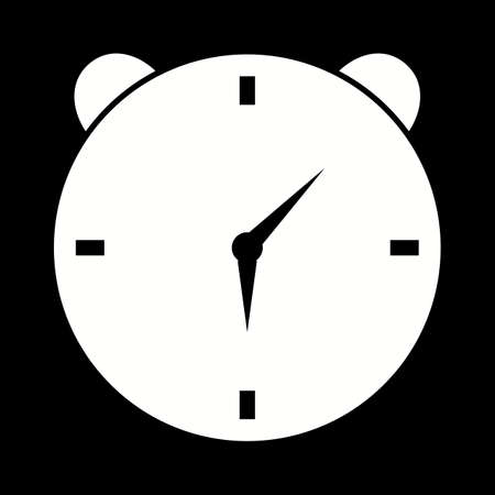Unique Alarm Clock Vector Glyph Icon 写真素材 - 137627236