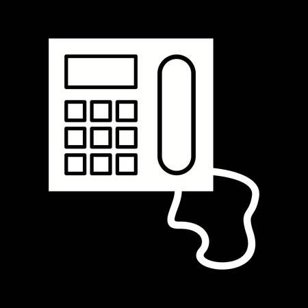 Unique Telephone Vector Glyph Icon 写真素材 - 137627334