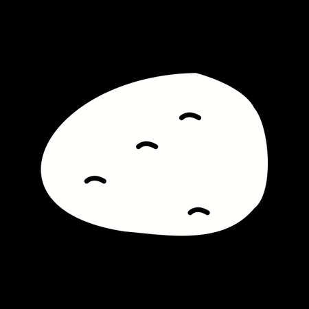 Unique Potato Vector Glyph Icon Çizim