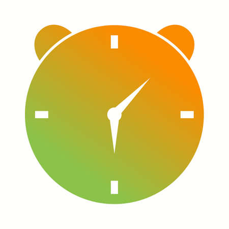 Unique Alaram Clock Vector Glyph Icon