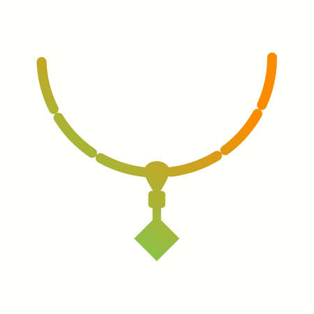 Unique Necklace Vector Glyph Icon