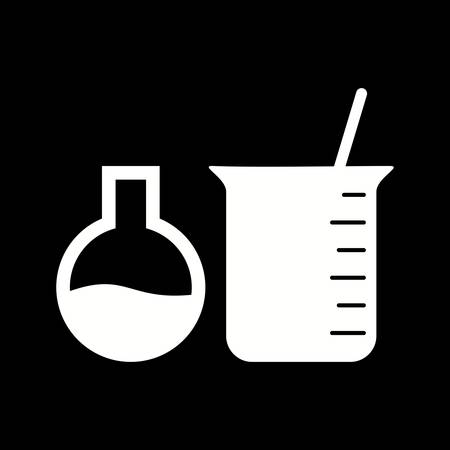 Unique Mixing Chemical I Vector Glyph Icon Ilustrace