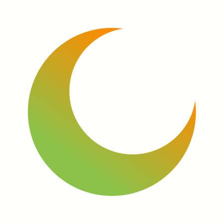 Icona del glifo vettoriale con mezza luna unica