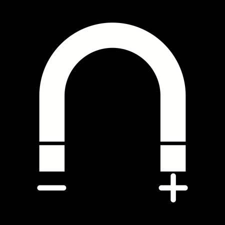 Unique Magnetism Vector Glyph Icon Vectores