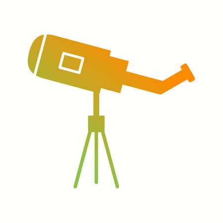 Unique Telescope Vector Glyph Icon