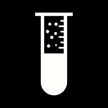 Unique Bubbles From Tube Vector Glyph Icon