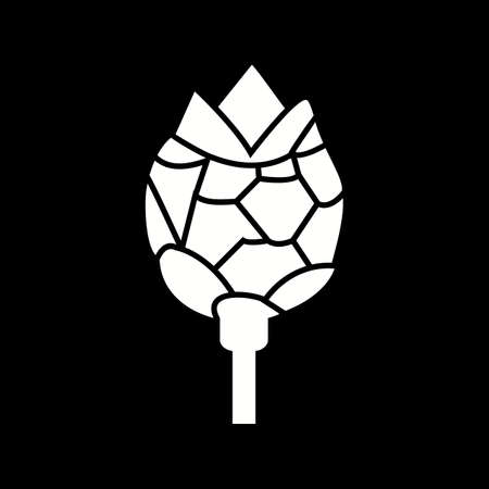 Unique Artichoke Vector Glyph Icon