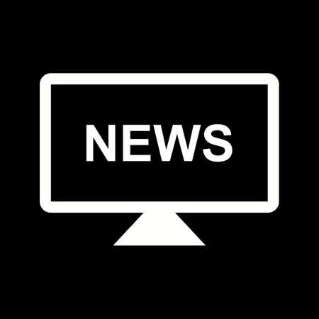 Unique National News Vector Glyph Icon Çizim
