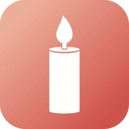 Unique Candle Glyph Vector Icon Imagens - 137737714