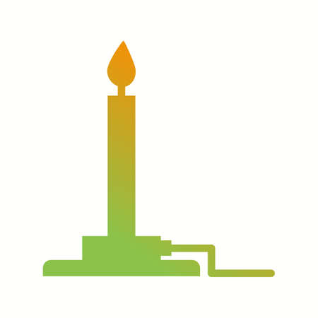 Unique Bunsen Burner Vector Glyph Icon  イラスト・ベクター素材