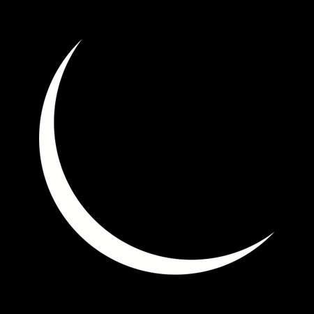 Unique New Moon Vector Glyph Icon 版權商用圖片 - 137738418