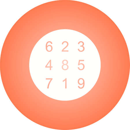 Beautiful Number Theory Glyph Vector Icon Ilustração