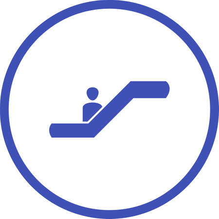 Beautiful escalator Glyph Vector Icon 일러스트
