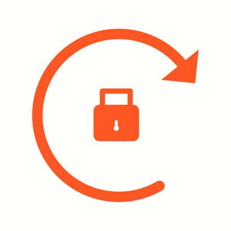 Beautiful Rotation Locked Glyph Vector Icon